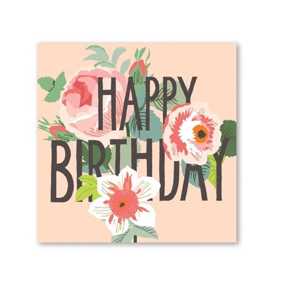 Happy Birthday Flowers Card Vintage Love Homeware Gifts