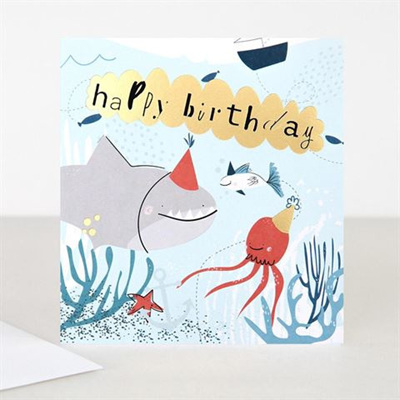 Happy Birthday Shark Card