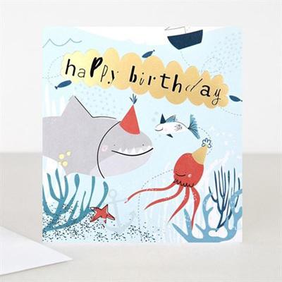 Happy Birthday Shark Card