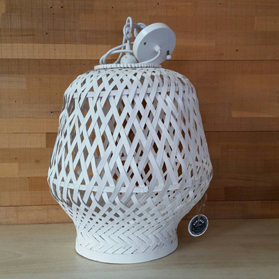 Hatta Pendant - White - 40x36cmh