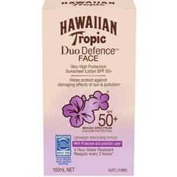 Hawaiian Tropic Duo Defence Face Sunscreen SPF50+ 100ml