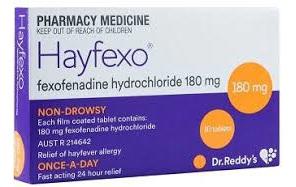 Hayfexo Tabs FC 180mg 10