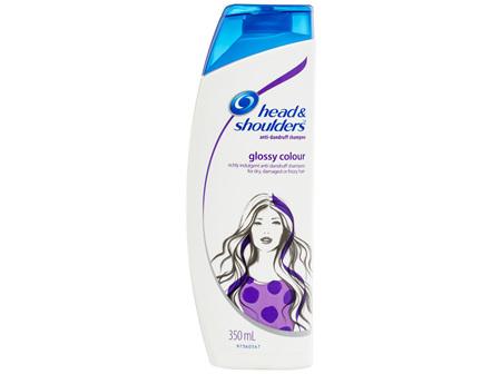 Head & Shoulders Glossy Colour Anti-Dandruff Shampoo 350mL