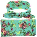 Headband & Wrap Set - Floral Green