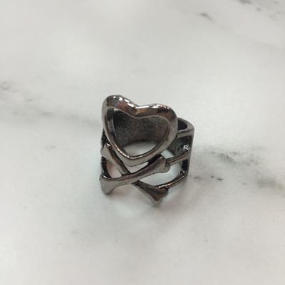 Heart and Cross Bone Ring