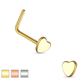 Heart L Bend Nose Stud