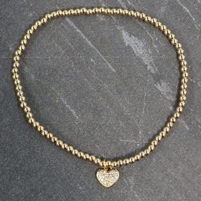 Heather Heart Bracelet - Gold