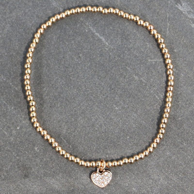 Heather Heart Bracelet - Rose Gold