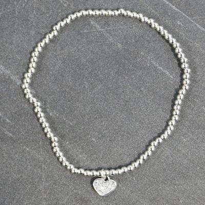 Heather Heart Bracelet - Silver