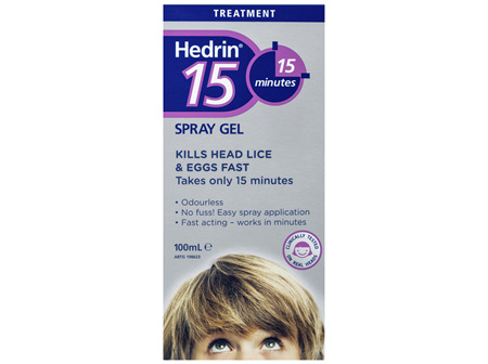 Hedrin 15 Spray Gel 100mL