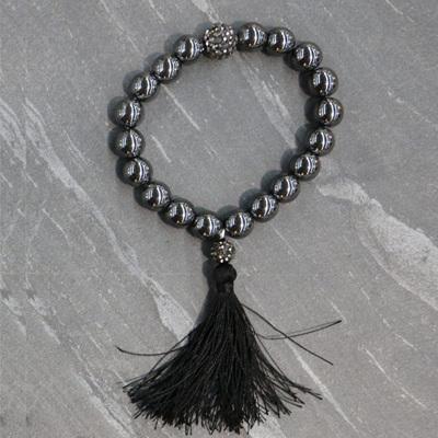 Hematite Tassel Bracelet
