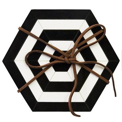 Hexagon Coasters Set of 4