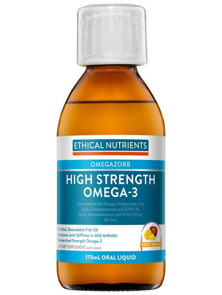 High Strength Omega-3 Fruit Punch 170mL