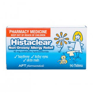 Histaclear Allergy Relief Tabs 10Mg 90