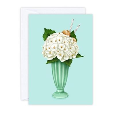 Hokey Pokey Hydrangea Greeting Card