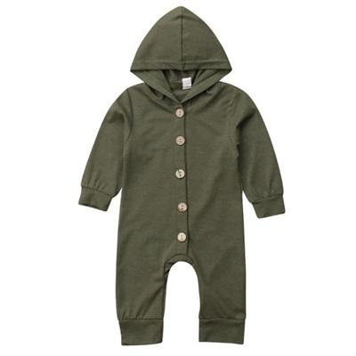 Hooded Long Sleeve Wondersuit - Army Green