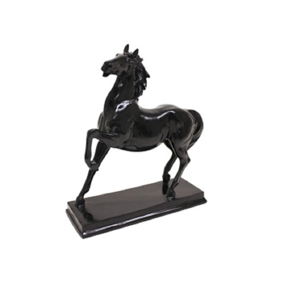 Horse On Stand - Gloss Black - Ornament
