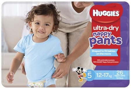 Huggies Ultra Dry Nappy Pants, Boys, Size 5 Walker (12 - 17kg), 26 Nappy Pants