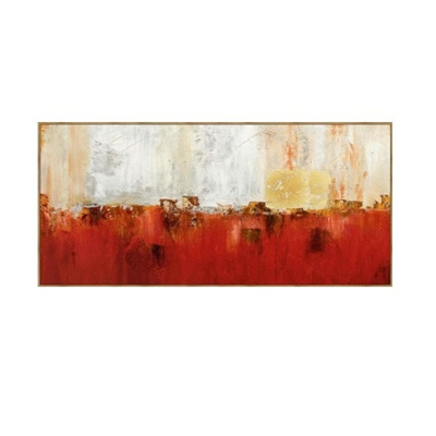 Hydra Canvas Print With Timber Look Frame 70x150cm