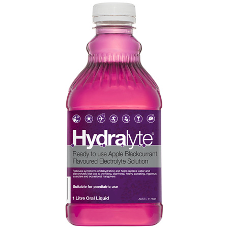 Hydralyte Apple Blackcurrant Flavoured Electrolyte Liquid 1 Litre