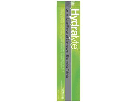 Hydralyte Effervescent Electrolyte Tablets Lemon Lime 20 Tablets