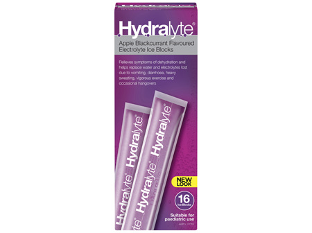 Hydralyte Electrolyte Ice Blocks Apple Blackcurrant 16 Pack