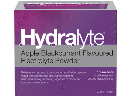 Hydralyte Electrolyte Powder Apple Blackcurrant 10 Pack