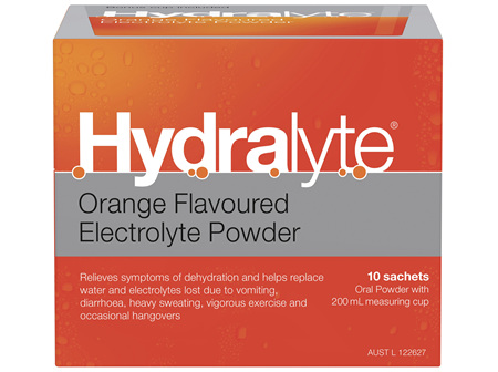 Hydralyte Electrolyte Powder Orange 10 Pack