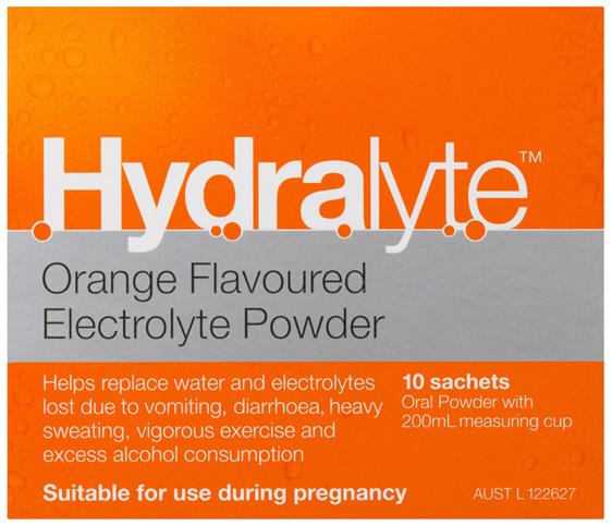 Hydralyte Electrolyte Powder Orange 10 Pack