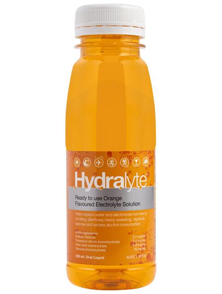 Hydralyte Orange Flavoured Electrolyte Liquid 250mL
