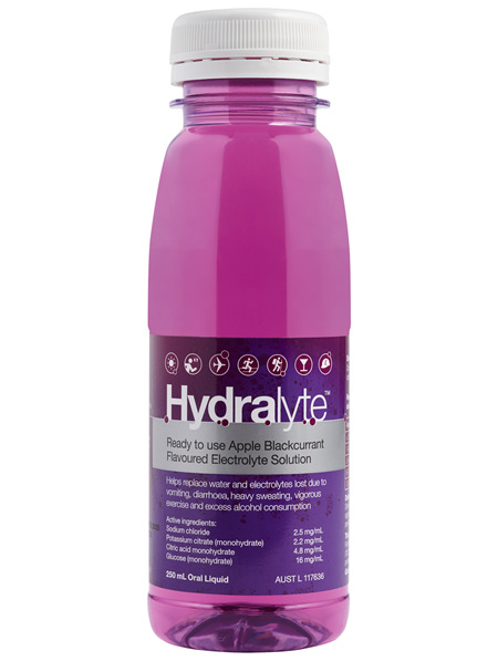 Hydralyte Ready to use Electrolyte Solution Apple Blackcurrant 250mL