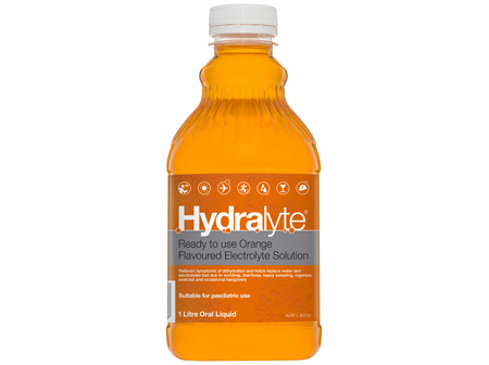 Hydralyte Ready to use Electrolyte Solution Orange 1L