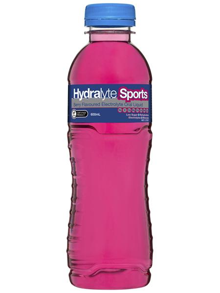 Hydralyte Sports Electrolyte Oral Liquid Berry 600mL