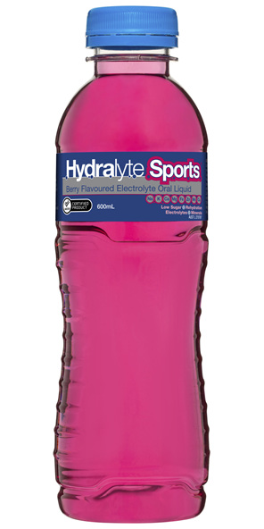 Hydralyte Sports Electrolyte Oral Liquid Berry 600mL
