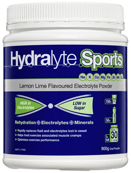 Hydralyte Sports Lemon Lime Electrolyte Powder 900g