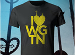 I love Wellington, yellow on black T-Shirt