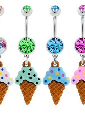 Ice cream cone Belly Rings