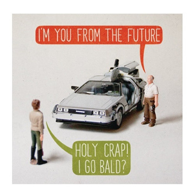 I'm From the Future Greeting Card