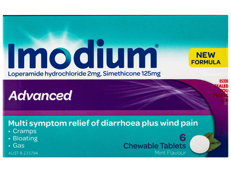 Imodium Advanced Chewable Tablets 6 Pack