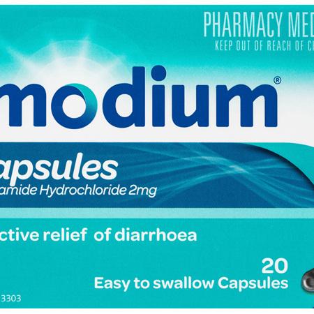Imodium Capsules 20 Pack