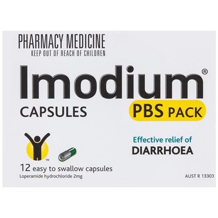 Imodium Capsules PBS Pack 2Mg 12