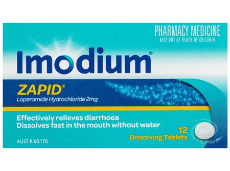 Imodium Zapid 2mg 12 Tablets