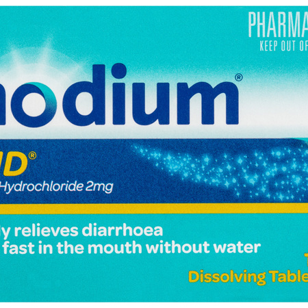 Imodium Zapid 2mg Dissolving Tablets 12 Pack