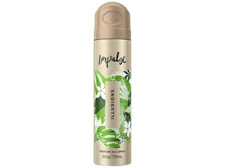 Impulse Body Spray Aerosol Deodorant Illusions 75mL