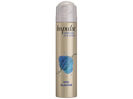 Impulse Body Spray Aerosol Deodorant Into Glamour 75mL