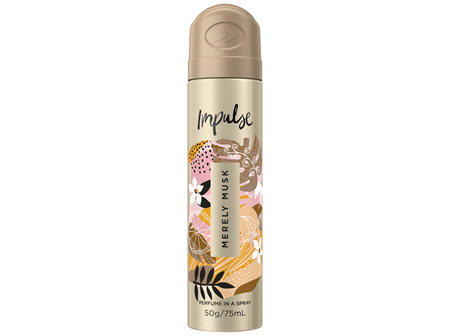 Impulse Women Body Spray Aerosol Deodorant Merely Musk 75mL