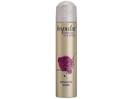 Impulse Women Body Spray Aerosol Deodorant Romantic Spark 75mL