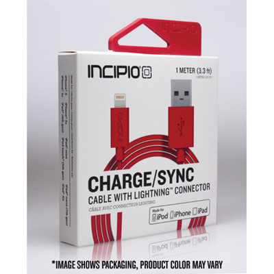 INCIPIO LIGHTNIN CHARGE/SYNC CABLE VARIOUS COLOURS