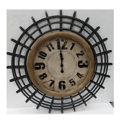 Indi Clock w Metal Frame - 100cmD