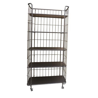 Industrial 5 Tier Tall Shelf Black